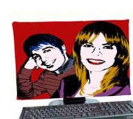 copri monitor con foto