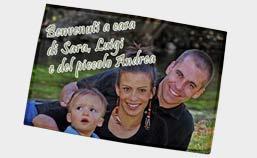 zerbino raffigurante una famiglia